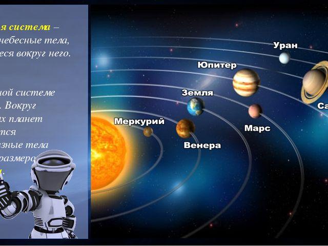Солнечная система – Солнце и небесные тела, движущиеся вокруг него. В Солнеч...