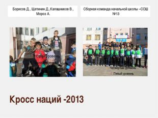 Кросс наций -2013 Борисов Д., Щетинин Д.,Калашников В., Мороз А. Сборная кома