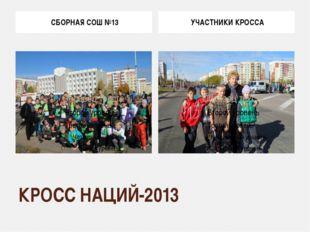 КРОСС НАЦИЙ-2013 СБОРНАЯ СОШ №13 УЧАСТНИКИ КРОССА