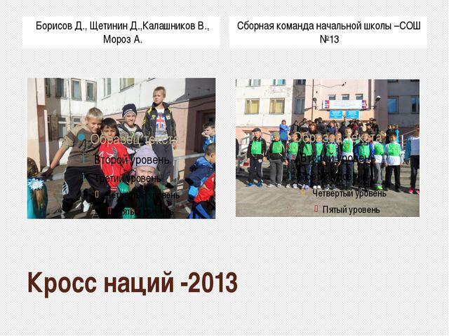 Кросс наций -2013 Борисов Д., Щетинин Д.,Калашников В., Мороз А. Сборная кома...