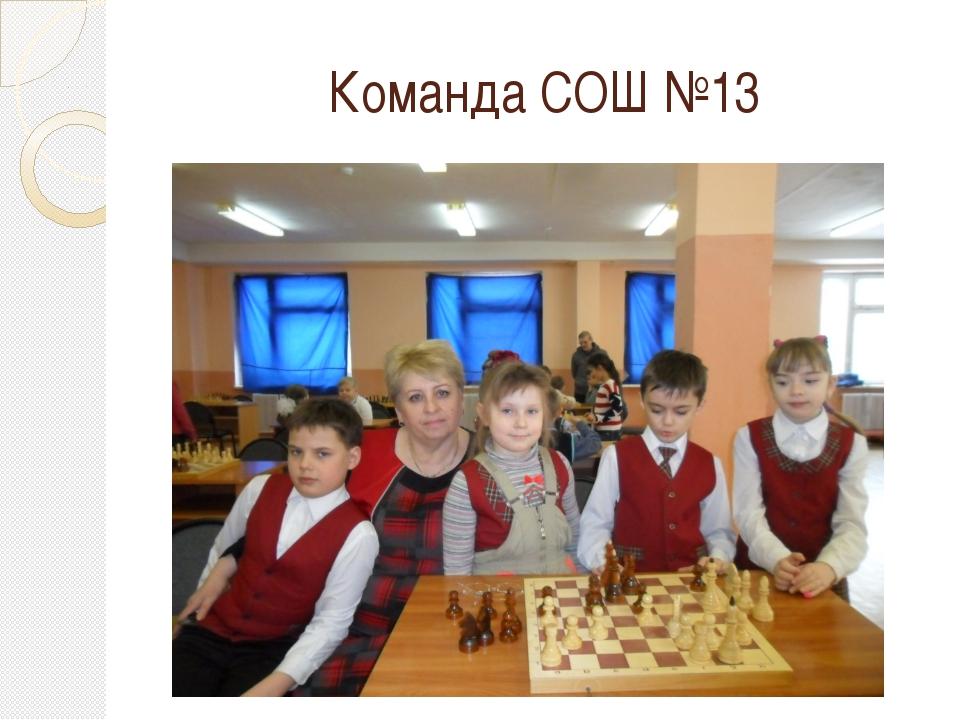 Команда СОШ №13