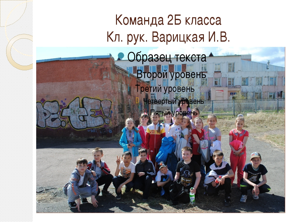 Команда 2Б класса Кл. рук. Варицкая И.В.