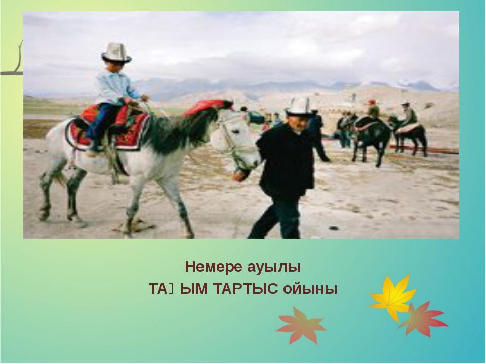 Немере ауылы ТАҚЫМ ТАРТЫС ойыны