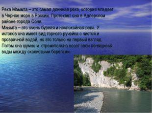 Река Мзымта – это самая длинная река, которая впадает в Черное море в России.