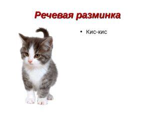 Речевая разминка Кис-кис