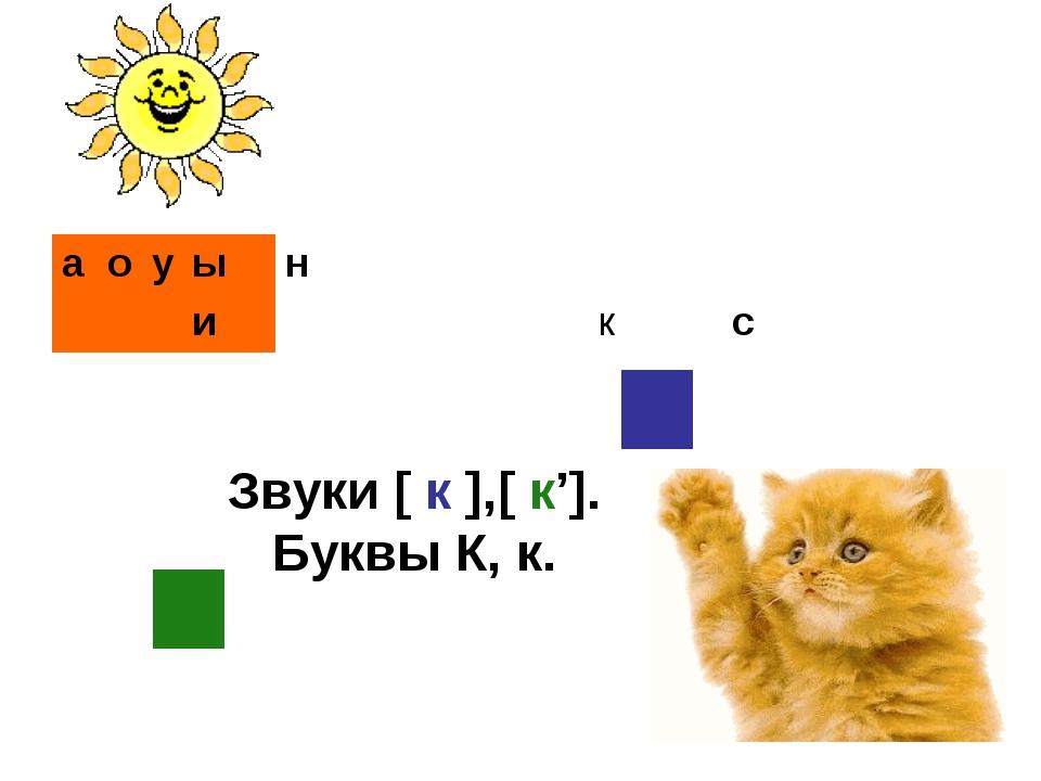 Звуки [ к ],[ к']. Буквы К, к. аоуын икс...