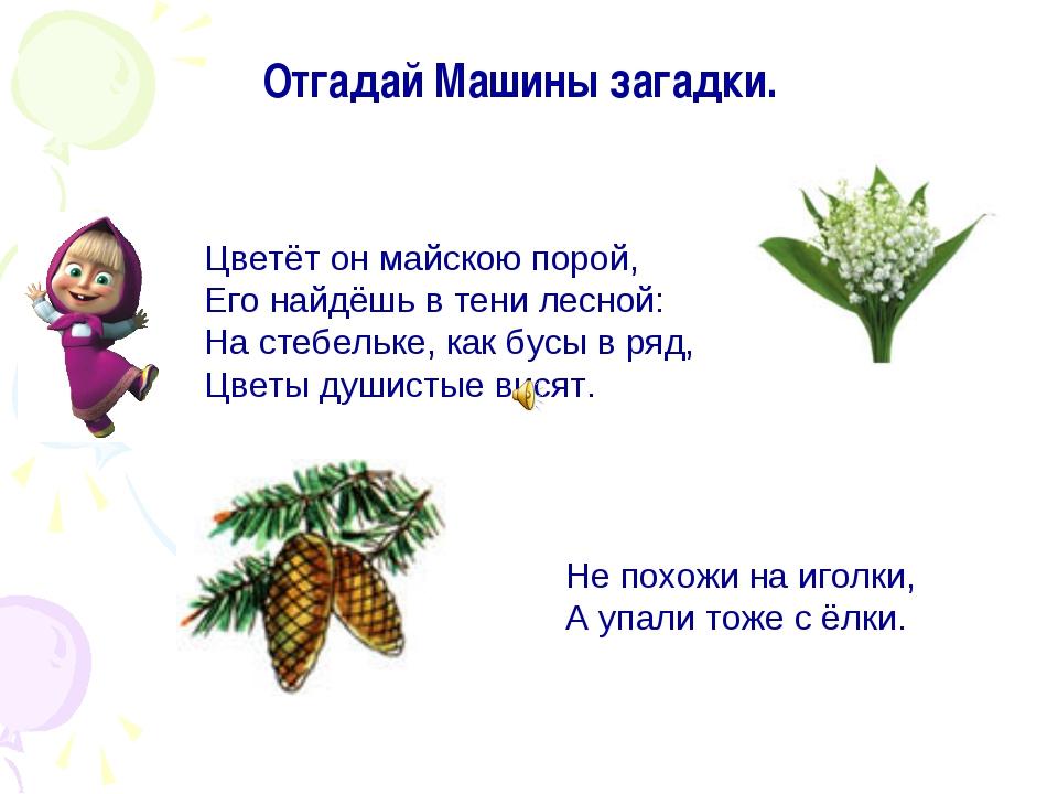 Цветёт он майскою порой, Его найдёшь в тени лесной: На стебельке, как бусы в...