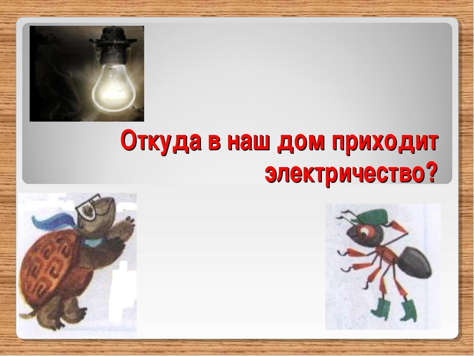 Откуда в наш дом приходит электричество?