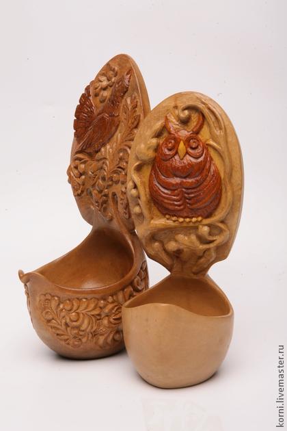 ковш-глухарь - Сувенир ручной работы,авторская ручная работа,подарок на 8 марта