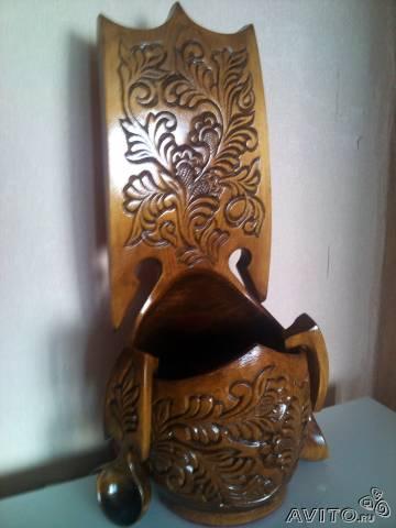Резной ковш. Украшение. Интерьер. Декор. Аксессуар: продам в разделе Мебель и интерьер по выгодной цене, в продаже Резной ковш.