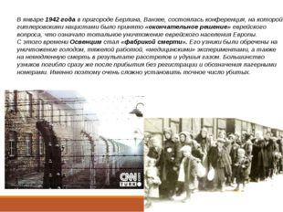 В январе 1942 года в пригороде Берлина, Ванзее, состоялась конференция, на к