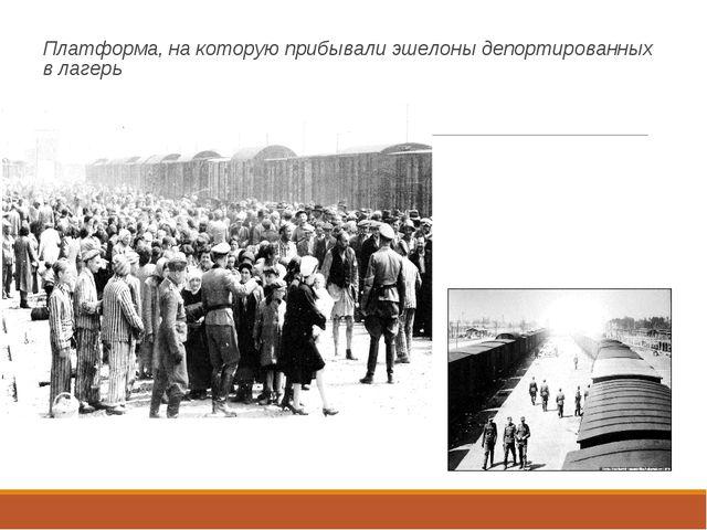 Платформа, на которую прибывали эшелоны депортированных в лагерь