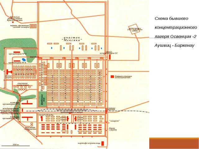 Схема бывшего концентрационного лагеря Освенцим -2 Аушвиц - Биркенау