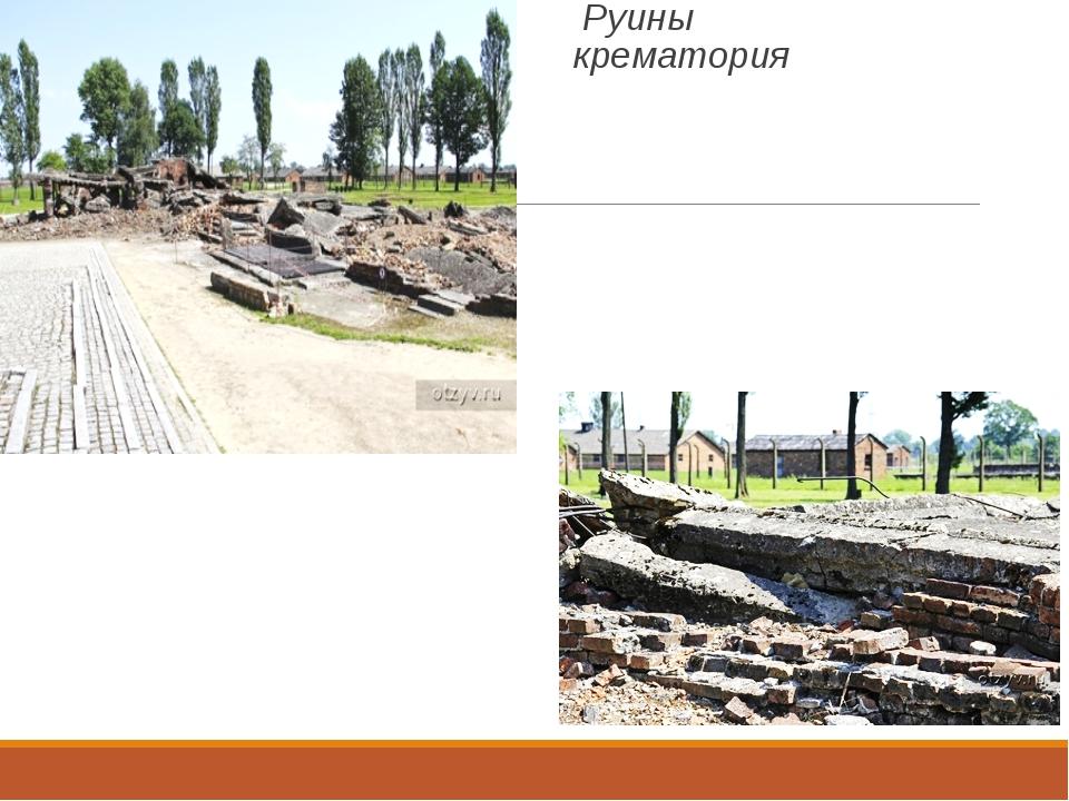 Руины крематория