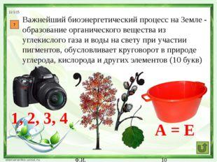 Ф.И. 11 Немецкий естествоиспытатель и философ, автор термина «экология» (7 б
