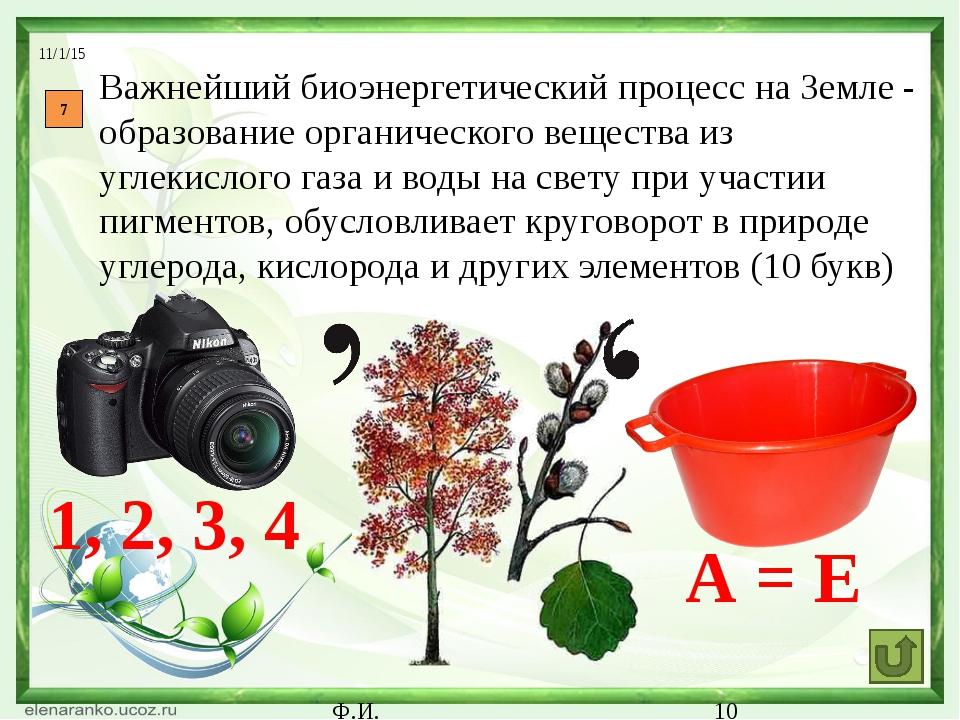 Ф.И. 11 Немецкий естествоиспытатель и философ, автор термина «экология» (7 б...