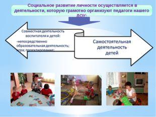 Социальное развитие личности осуществляется в деятельности, которую грамотно
