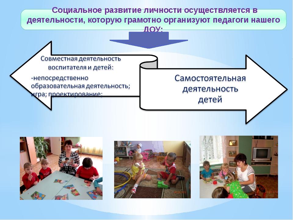 Социальное развитие личности осуществляется в деятельности, которую грамотно...