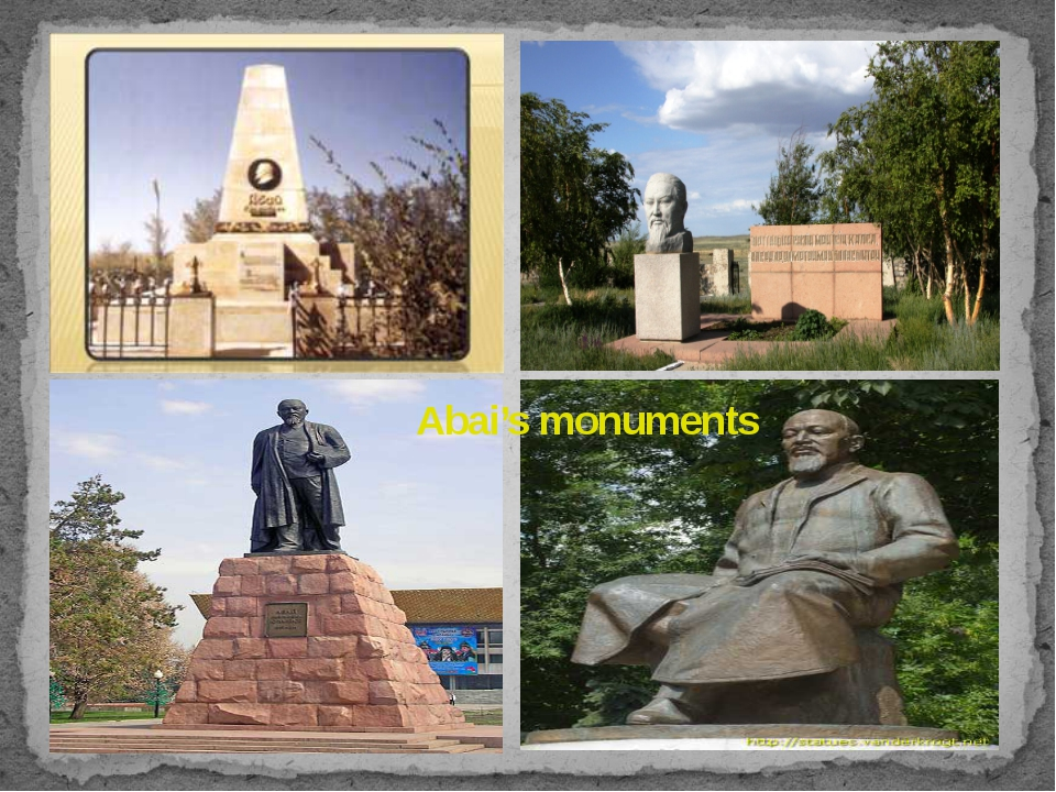 Abai's monuments