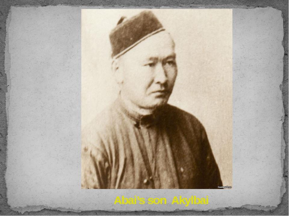 Abai's son Akylbai