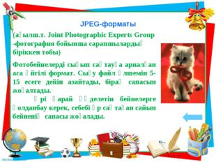 JPEG-форматы (ағылш.т. Joint Photographic Experts Group -фотография бойынша с