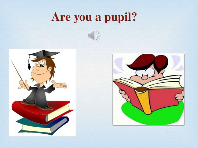Are you a pupil?