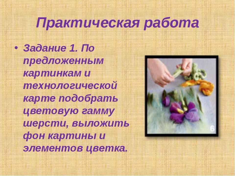 Практическая работа Задание 1. По предложенным картинкам и технологической ка...