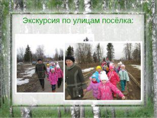 Экскурсия по улицам посёлка: