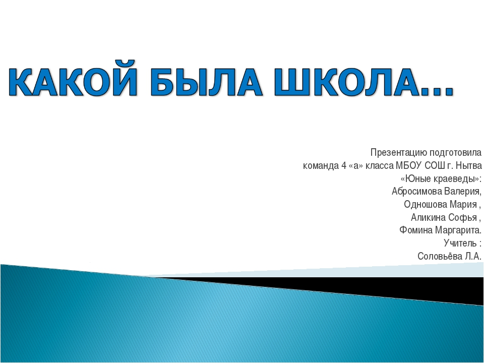 Презентацию подготовила команда 4 «а» класса МБОУ СОШ г. Нытва «Юные краеведы...