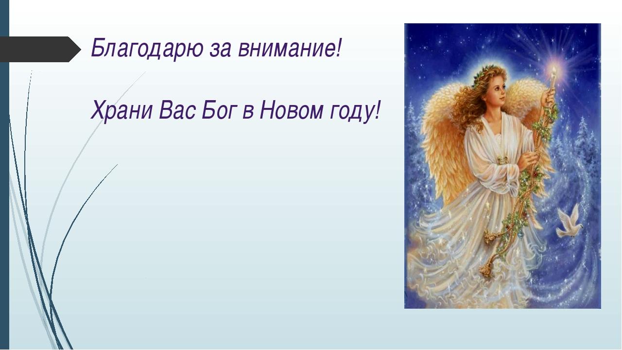 Благодарю за внимание! Храни Вас Бог в Новом году!