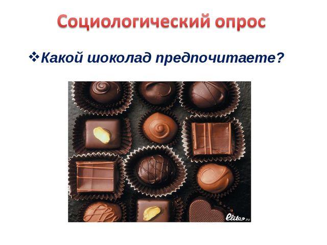 Какой шоколад предпочитаете?