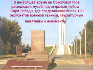 В настоящее время на Соколовой горе расположен музей под открытым небом – Пар