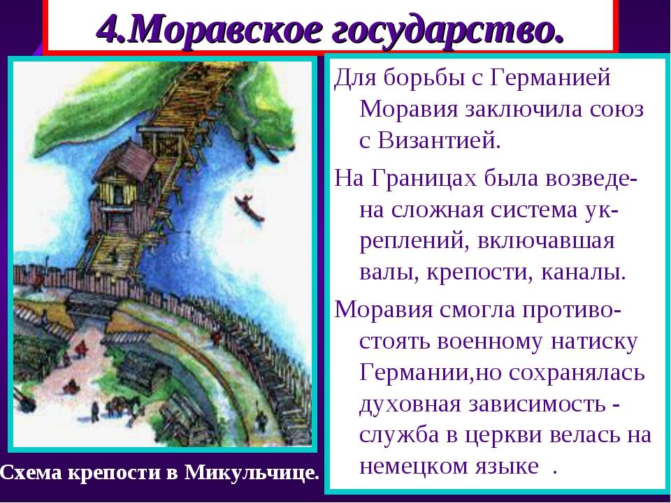 4.Моравское государство. Для борьбы с Германией Моравия заключила союз с Виза...