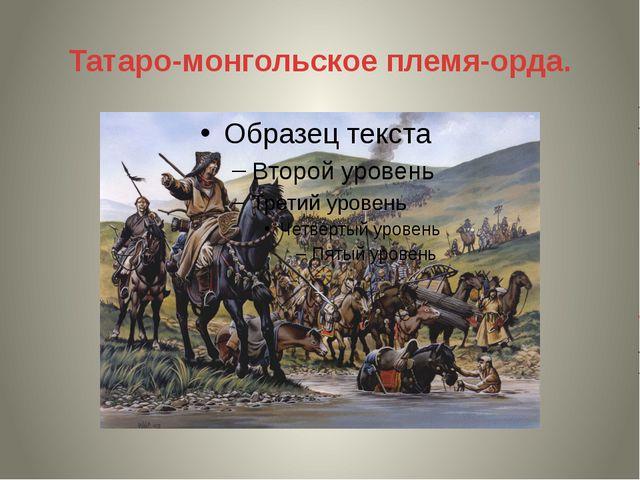 Татаро-монгольское племя-орда.