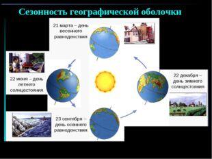 Смена времен года 22 июня – день летнего солнцестояния 22 декабря – день зимн