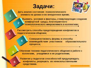 Задачи: 1 2 3 Рассмотреть способы предотвращения конфликтов в педагогическом