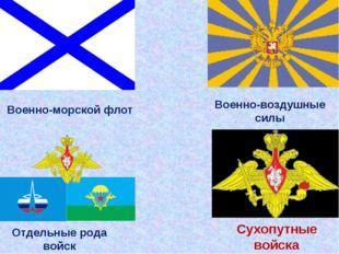 Военно-морской флот Военно-воздушные силы Сухопутные войска Отдельные рода во