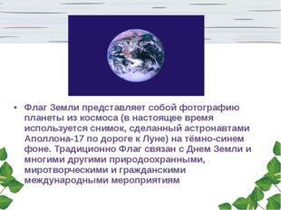 Флаг Земли представляет собой фотографию планеты из космоса (в настоящее врем