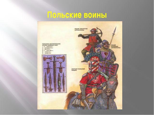 Польские воины
