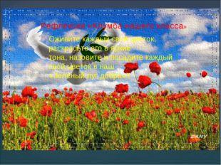 Рефлексия «Клумба нашего класса» Оживите каждый свой цветок, раскрасьте его в