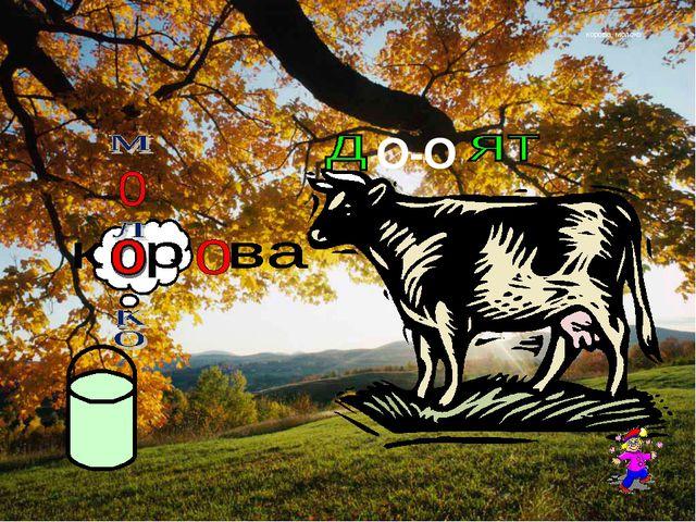корова, молоко О-О