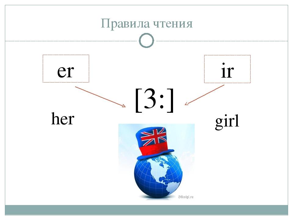 Правила чтения er ir [3:] her girl