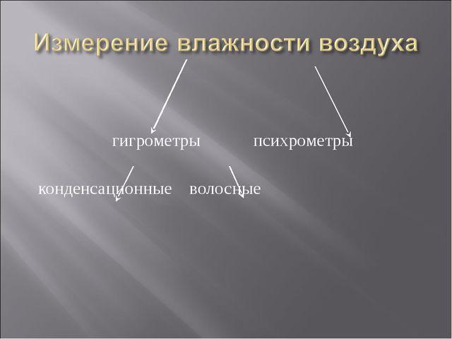 гигрометры психрометры конденсационные волосные