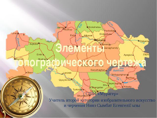 Элементы топографического чертежа СШИ «Мурагер» Учитель второй категории изоб...