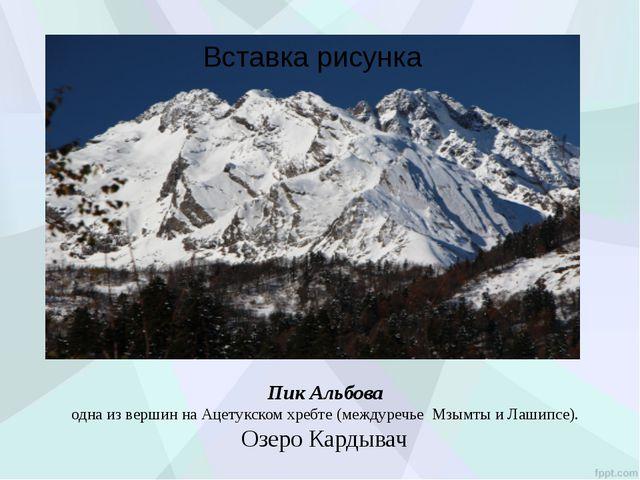 Пик Альбова одна из вершин на Ацетукском хребте (междуречье Мзымты и Лашипс...