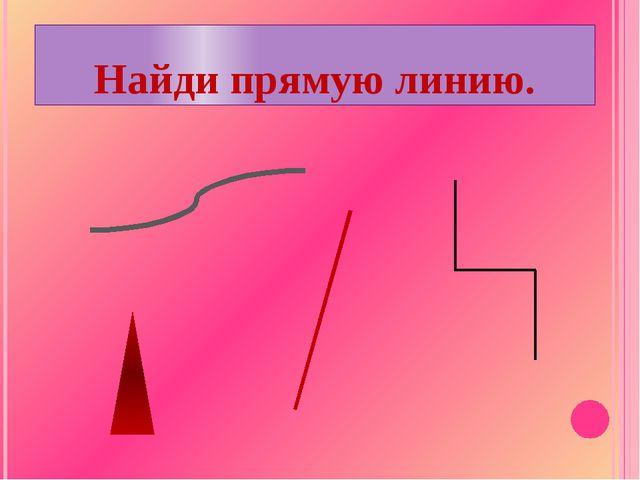 ? Подумай! Сколько прямых линий можно провести через две точки ?...