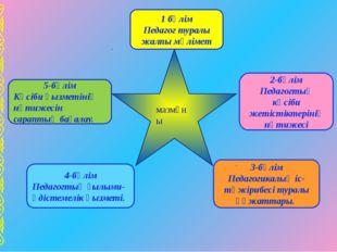 1 бөлім Педагог туралы жалпы мәлімет 2-бөлім Педагогтың кәсіби жетістіктерін