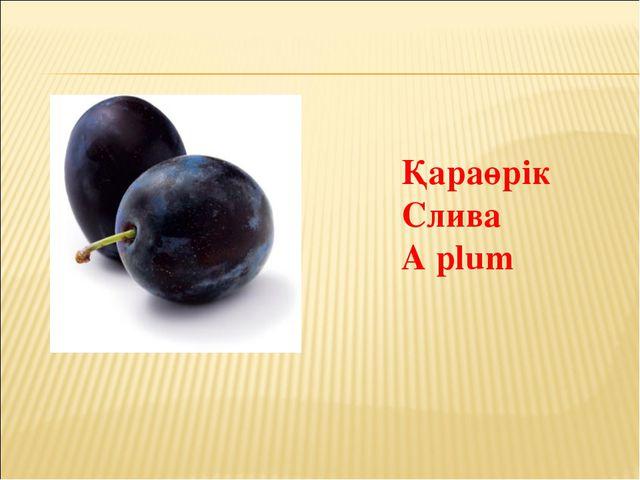 Қараөрік Слива A plum