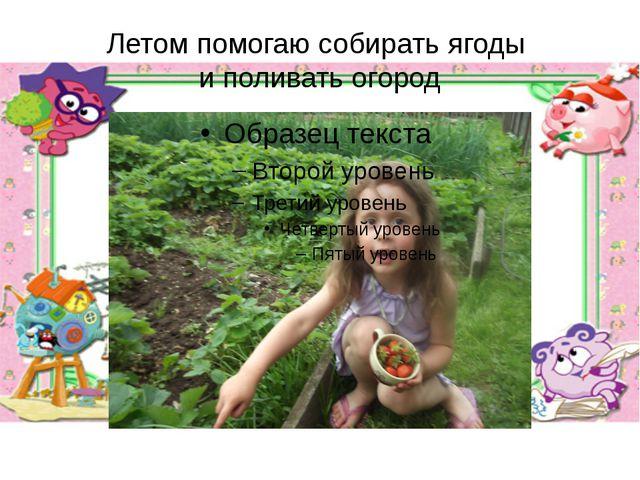 Летом помогаю собирать ягоды и поливать огород