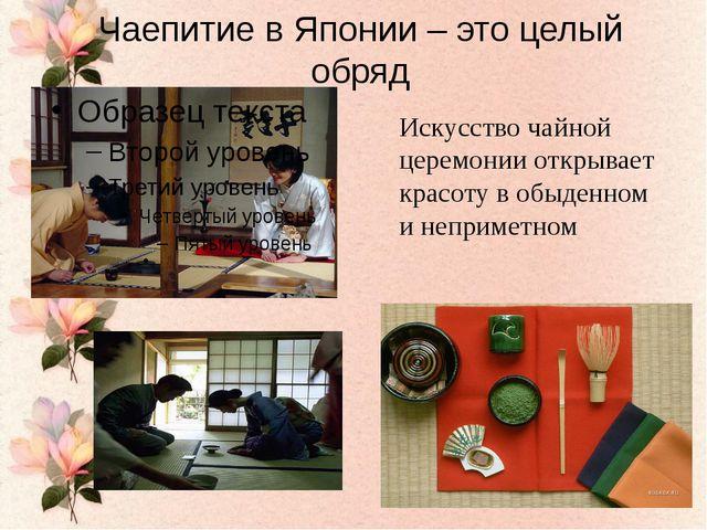Чаепитие в Японии – это целый обряд Искусство чайной церемонии открывает крас...